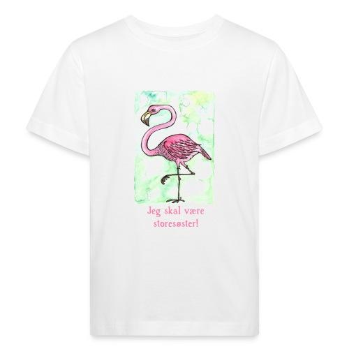 Jeg skal være storesøster Flamingo - Organic børne shirt