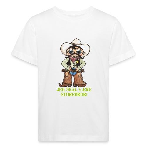 Jeg skal være storebror Cowboy - Organic børne shirt
