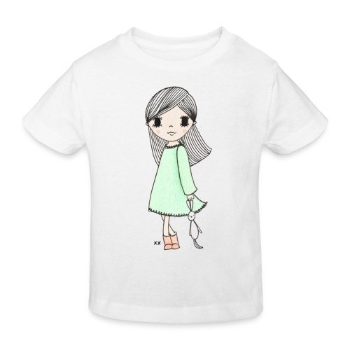 meisje met knuffel - Kinderen Bio-T-shirt