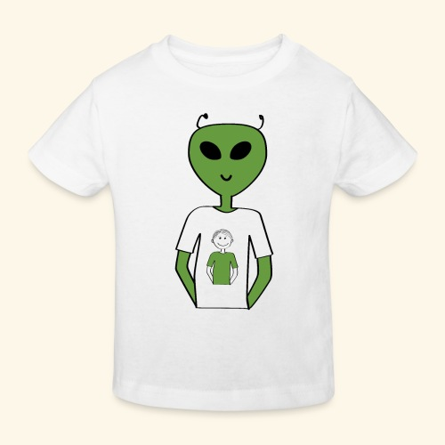 Alien human T shirt - Ekologisk T-shirt barn