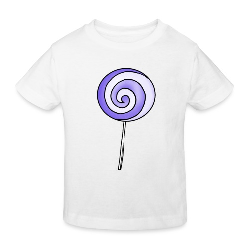 geringelter Lollipop - Kinder Bio-T-Shirt