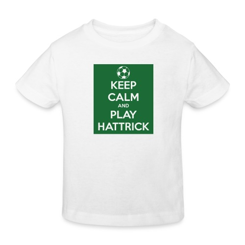 keep calm and play hattrick - Maglietta ecologica per bambini