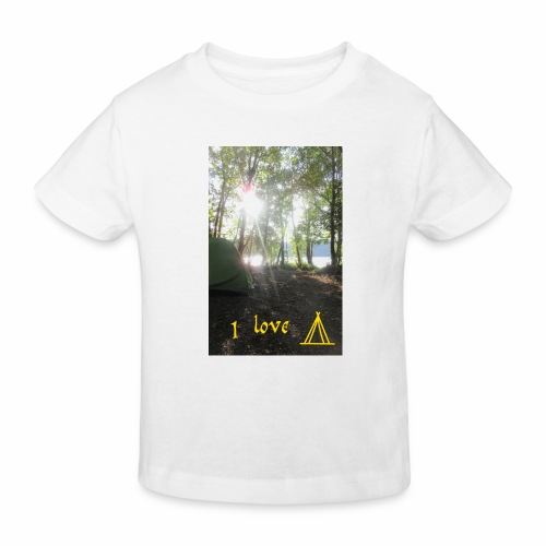 camping - Kinderen Bio-T-shirt