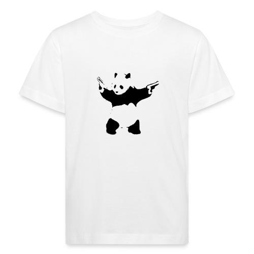 oso panda pistolas - Camiseta ecológica niño