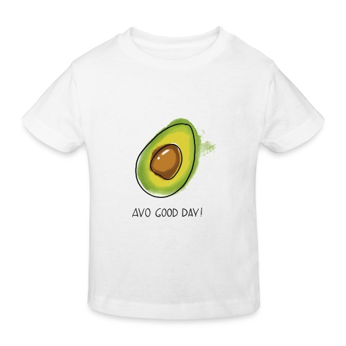 Fruit Puns n°2 Avo Good Day, Avocado - Kinder Bio-T-Shirt