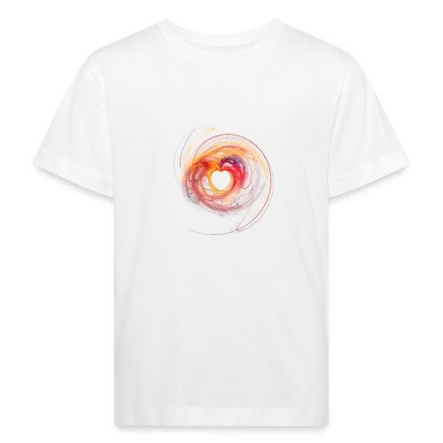 Herz / Herzen, abstraktes Design - Kinder Bio-T-Shirt