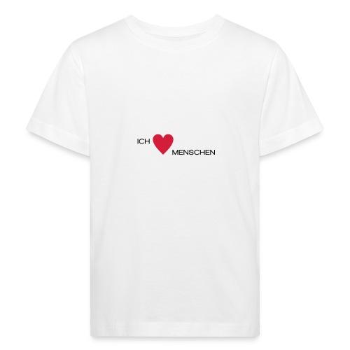 Ich liebe Menschen - Kinder Bio-T-Shirt
