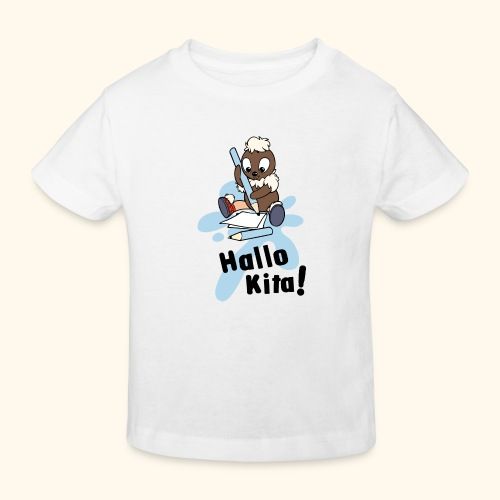 Pittiplatsch Hallo Kita! - Kinder Bio-T-Shirt