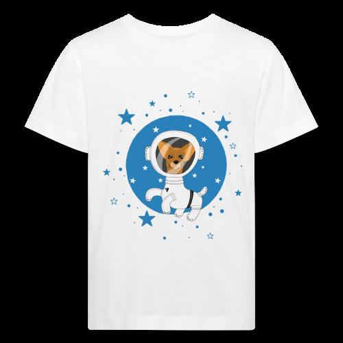 Kleiner Hund im Weltall - Kinder Bio-T-Shirt