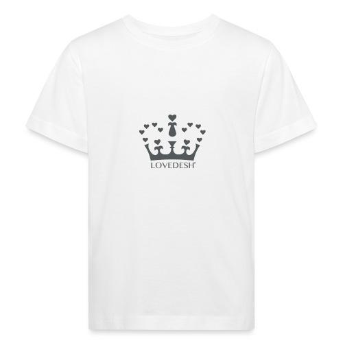 LD crown logo hearts png - Kids' Organic T-Shirt