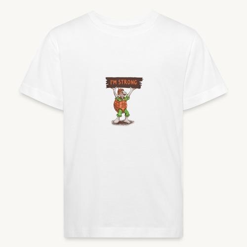 Turtle mit Power - Kinder Bio-T-Shirt