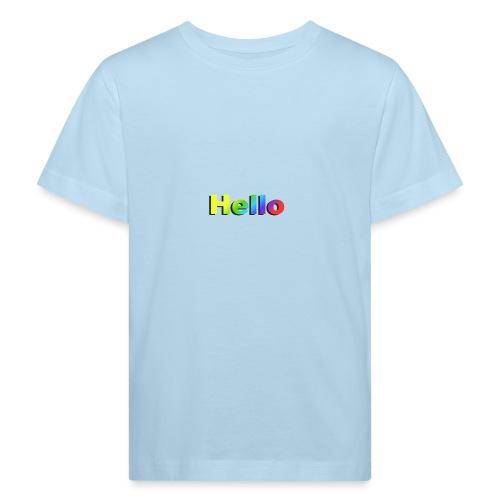 Hello - Ekologiczna koszulka dziecięca