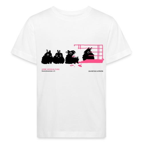 gegen käfighaltung auf weiß j - Kinder Bio-T-Shirt