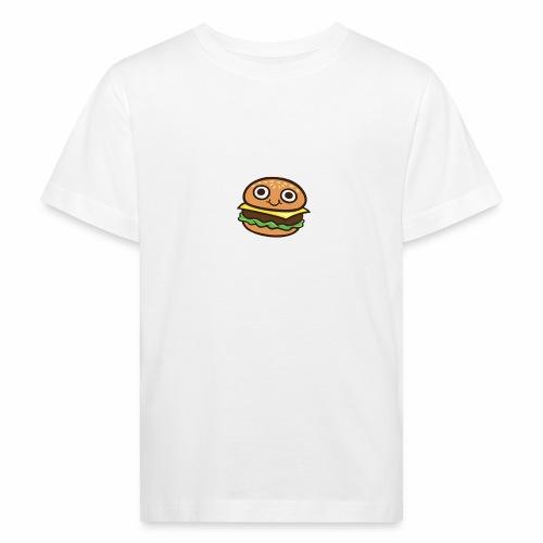 Burger Cartoon - Kinderen Bio-T-shirt