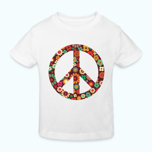 Flowers children - peace - Kids' Organic T-Shirt