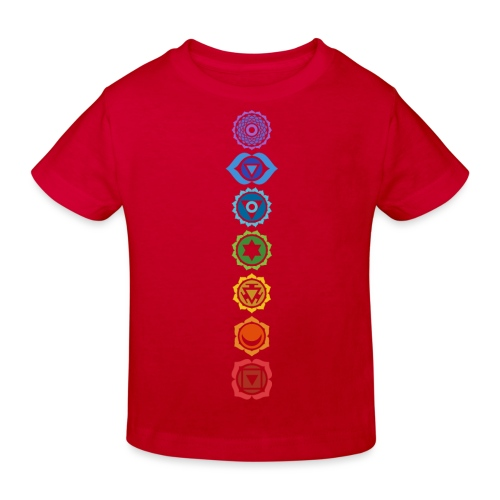 The 7 Chakras, Energy Centres Of The Body - Kids' Organic T-Shirt