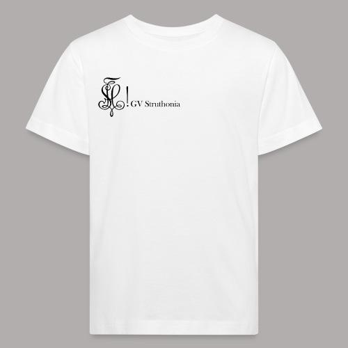 Zirkel mit Name, schwarz (vorne) - Kinder Bio-T-Shirt