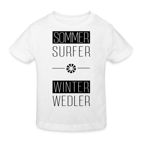 sommer surfer winter wedler - Kinder Bio-T-Shirt