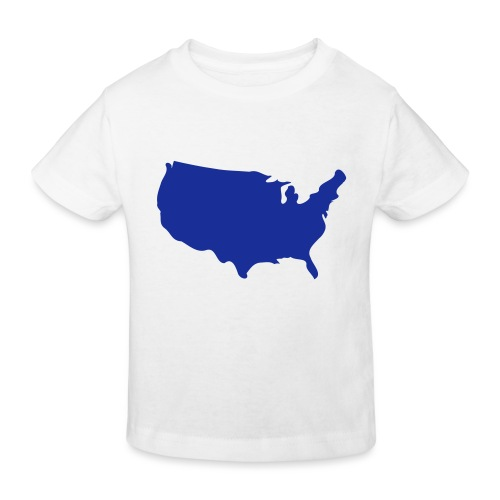 usa map - Kids' Organic T-Shirt
