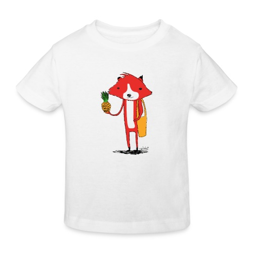 Ananasfüchslein - Kinder Bio-T-Shirt
