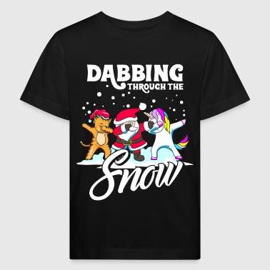 Dabbing Santa Dab Katze Einhorn Weihnachten - Ekologiczna koszulka dziecięca