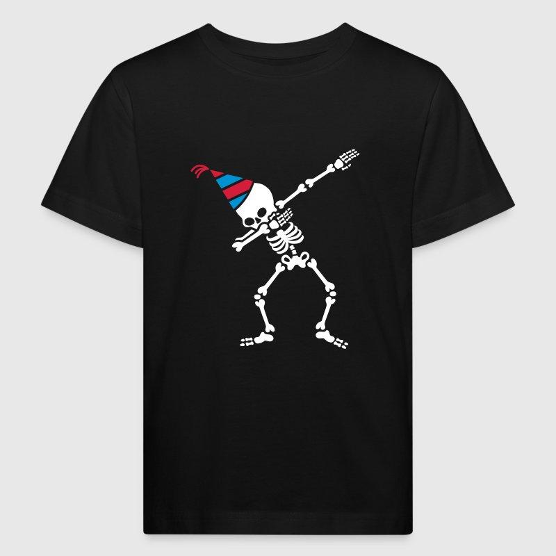 Dab skeleton dabbing birthday party hat - Camiseta ecológica niño