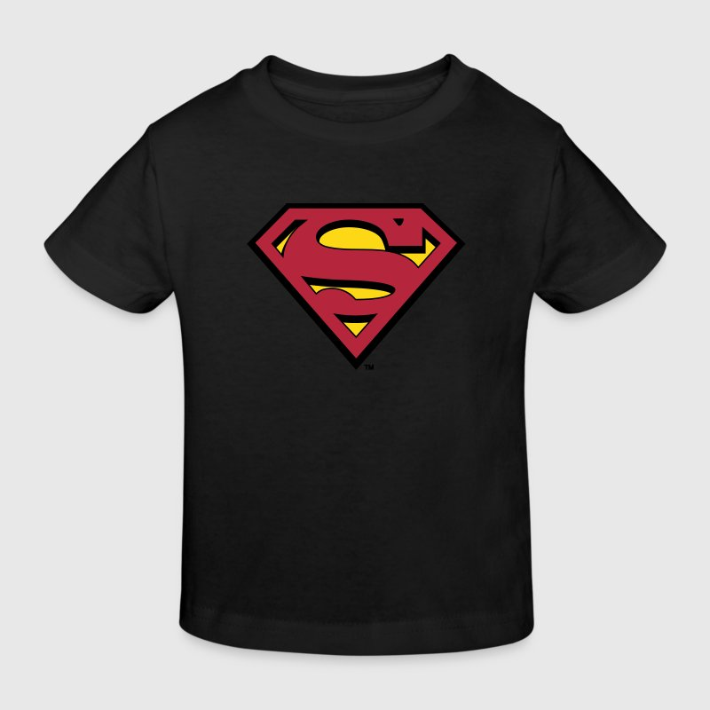 Superman Logo Kids Hoodie - Ekologisk T-shirt barn