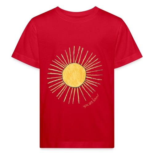 sonne geänderte strahlen mit text png png - Kinder Bio-T-Shirt