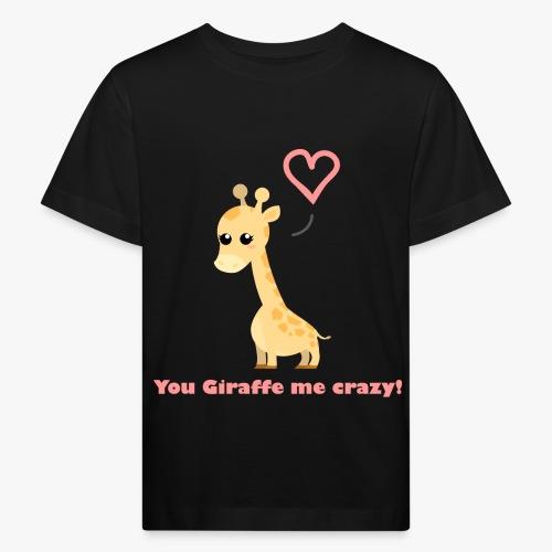 Giraffe Me Crazy - Organic børne shirt