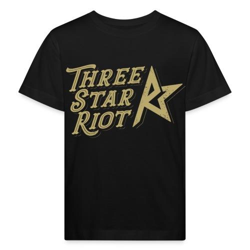 Three Star Riot logo väri - Lasten luonnonmukainen t-paita