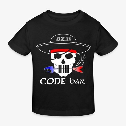 Code Bar white - T-shirt bio Enfant