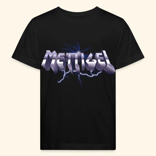 Mettigel T Shirt Design Heavy Metal Schriftzug - Kinder Bio-T-Shirt