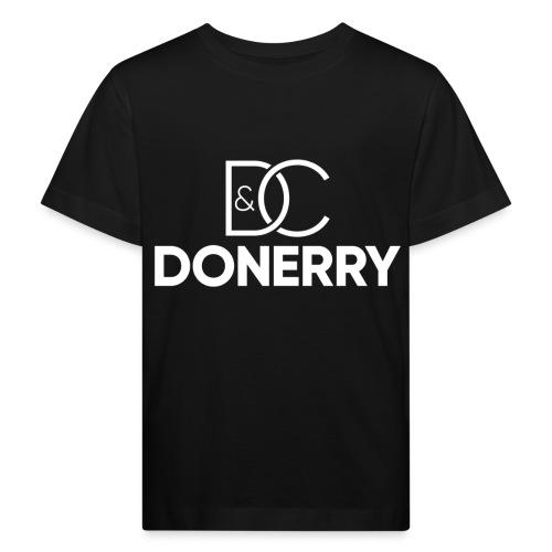 DONERRY New White Logo on Dark - Kids' Organic T-Shirt