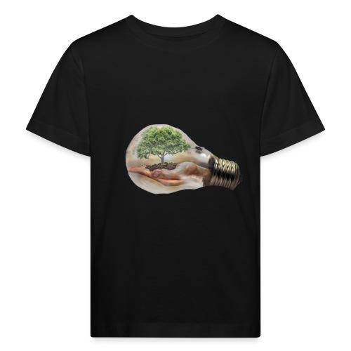 Baum und fliege in einer Glühbirne Geschenkidee - Kinder Bio-T-Shirt
