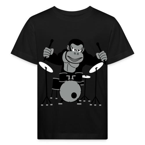 Drumming Gorilla - Kids' Organic T-Shirt