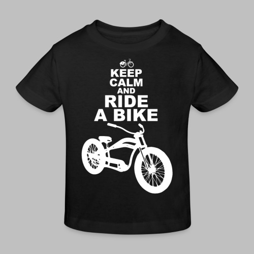 keep Calm and Ride a Bike Geschenkidee - Kinder Bio-T-Shirt