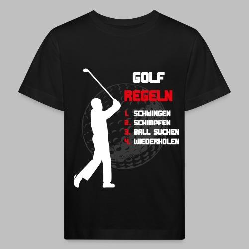 Golfregeln Golfball Golfschläger Abschlag lustig - Kinder Bio-T-Shirt