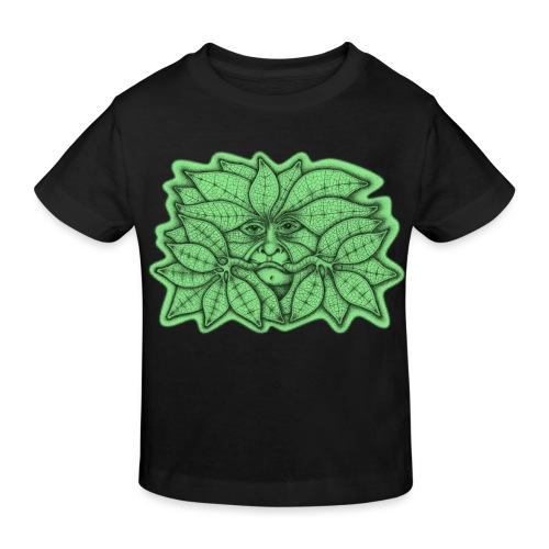 Green Man for Pagan Global Warming/Climate Change - Kids' Organic T-Shirt