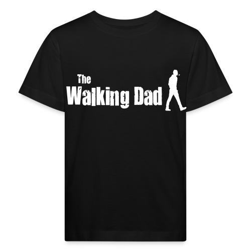 the walking dad white text on black - Kids' Organic T-Shirt