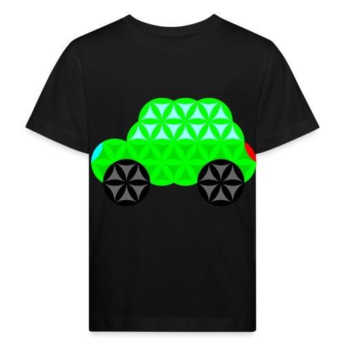 The Car Of Life - M01, Sacred Shapes, Green/R01. - Kids' Organic T-Shirt
