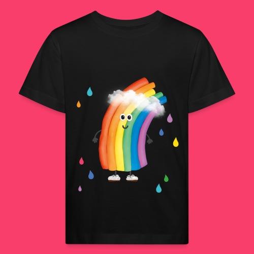 Rudi Regenbogen bunte Regentropfen - Kinder Bio-T-Shirt