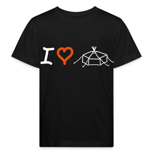 I love Jurte - Kinder Bio-T-Shirt