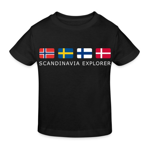 SCANDINAVIA EXPLORER white-lettered - Kids' Organic T-Shirt