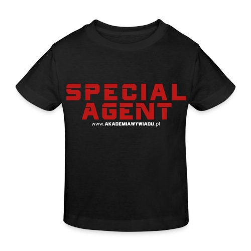 Emblemat Special Agent marki Akademia Wywiadu™ - Ekologiczna koszulka dziecięca