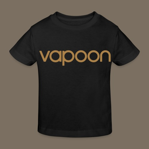 Vapoon Logo simpel 01 - Kinder Bio-T-Shirt