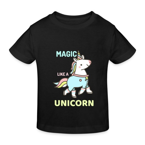 Einhorn Design - Kinder Bio-T-Shirt