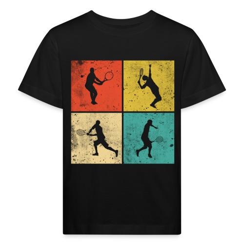 Tennis Tennisspieler Retro Geschenk - Kinder Bio-T-Shirt