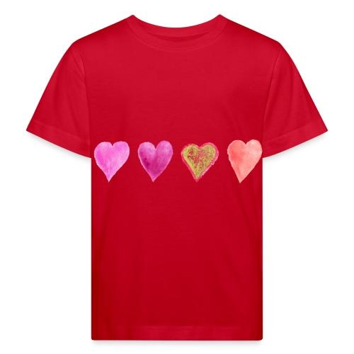 Herzen - Kinder Bio-T-Shirt