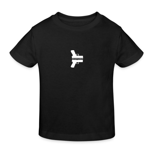 WorldMilitaryHD glock design (white) - Kinderen Bio-T-shirt