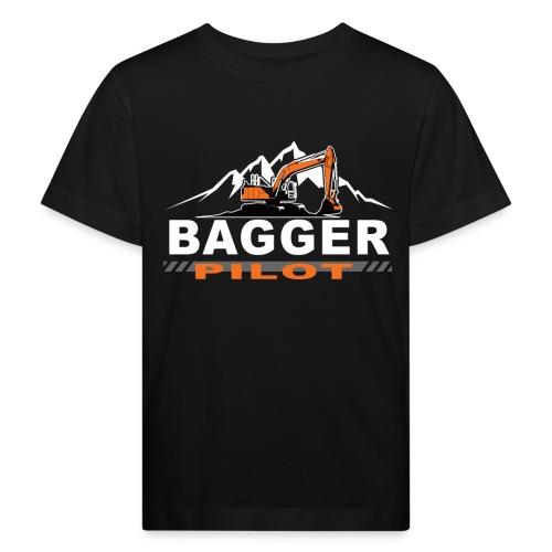 Bagger Pilot Baustelle Baumaschine - Kinder Bio-T-Shirt